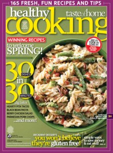 Healthy Cooking magazine cover